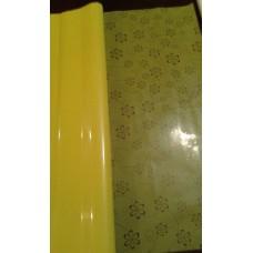 Celofāns, dzeltens ar rakstu 70 cm x 50 cm