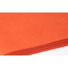 Filca loksne,  oranža, 30 cm x 22 cm