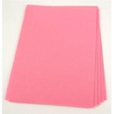 Filca loksne, rozā, 30 cm x 22 cm