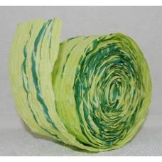 Papīra lenta, divu toņu zaļš