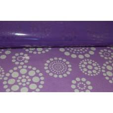 Celofāns, ar violetu rakstu 70 cm x 50 cm