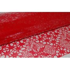 Celofāns, ar sarkanu rakstu 70 cm x 50 cm