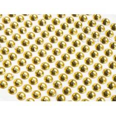 Līmējamie akrila kristāliņi, dzelteni, 3 mm, 750 gab.
