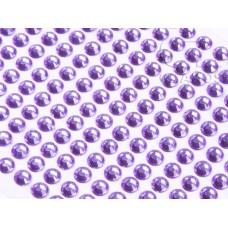 Līmējamie akrila kristāliņi, violeti, 3 mm, 750 gab.